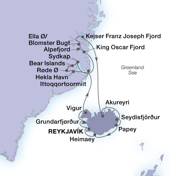 Seabourn Venture - map