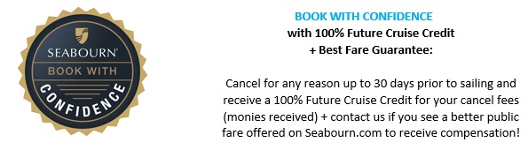 SEABOURN 2021 Europe cruises - book with confidence