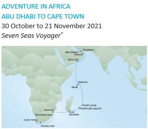 Regent Seven Seas Cruises Dubai to Cape Town