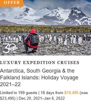 Antarctica, South Georgia & the Falkland Islands Holiday Voyage 2021-22