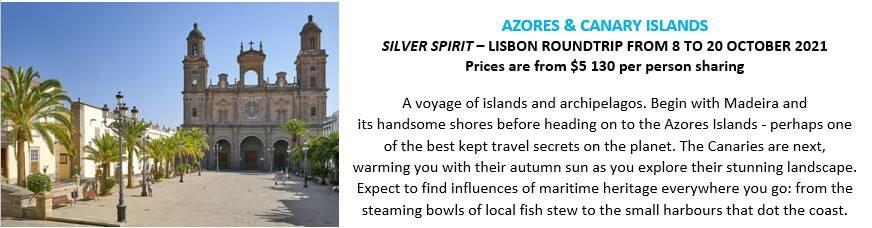 Silversea 2021-2022 cruises