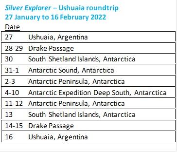 Silversea Expeditions Deep Antarctica