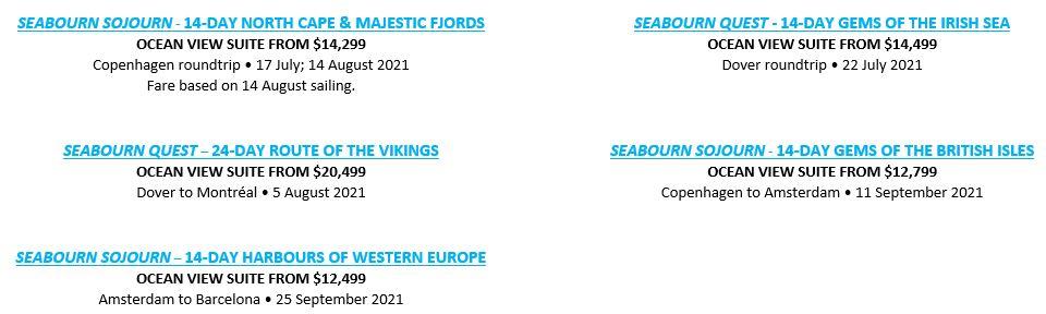 2021 Seabourn Northern Europe Cruises2