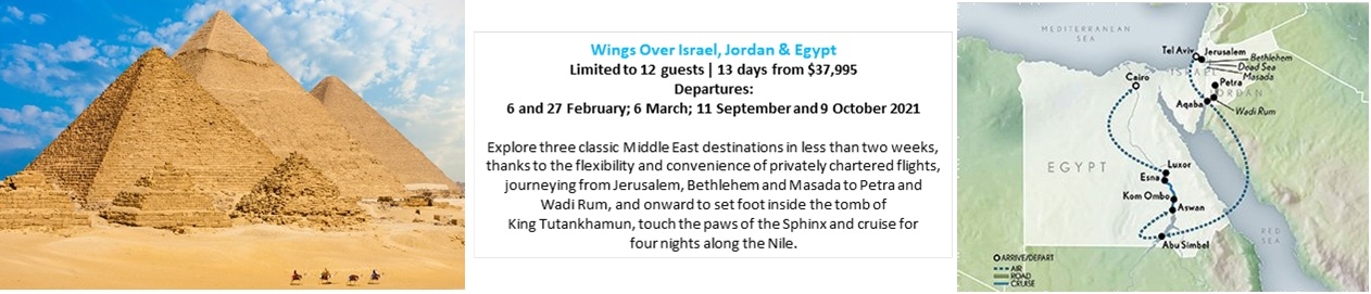 Wings Over Israel, Jordan & Egypt