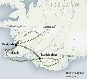 Iceland: Winter Landscapes - map